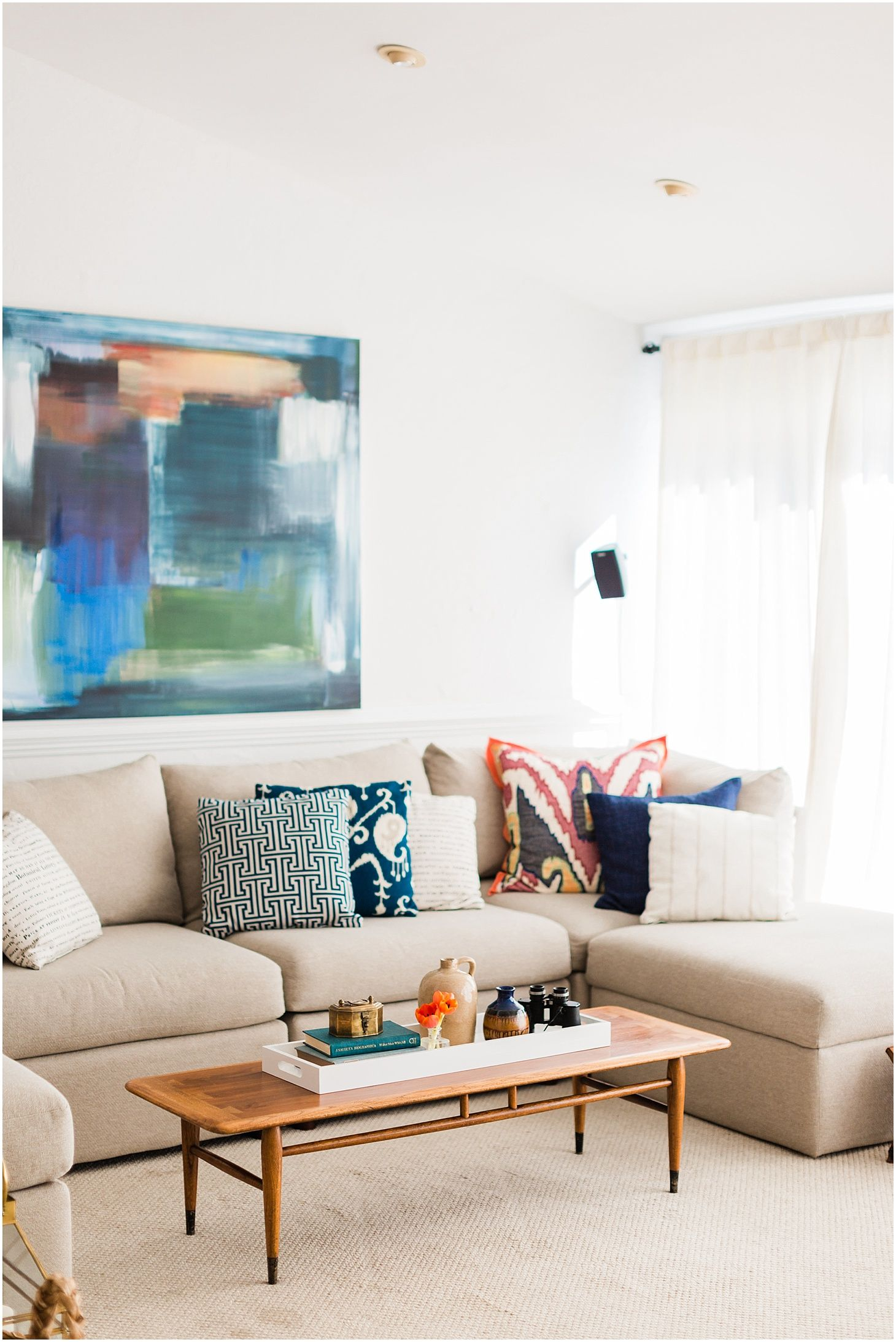Home tour curated mid century modern home in washington dc sarah bradshaw photography modern living room inspiration