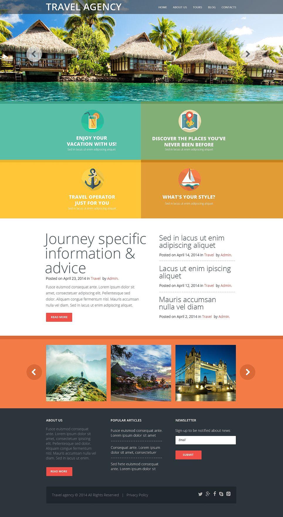 Travel Agency Website >> Travel Agency Responsive Website Template 50997 Travel