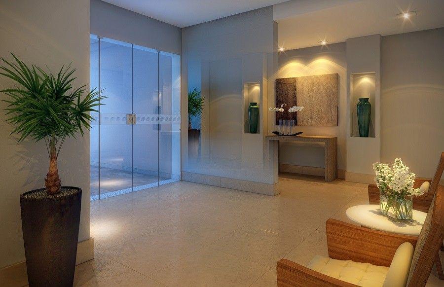 Desde a entrada, o residencial transmite a impressão de bom gosto.