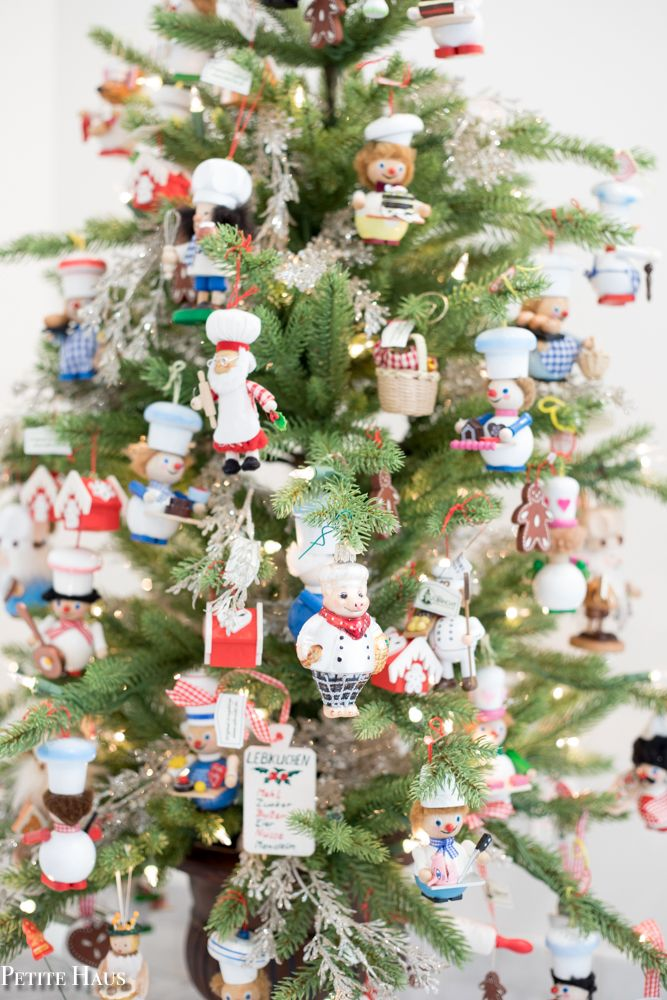 Superior Traditional German Christmas Tree Ornaments Part - 13: Chef Christmas Tree - Themed Christmas Tree Idea For Christmas Kitchen Decor