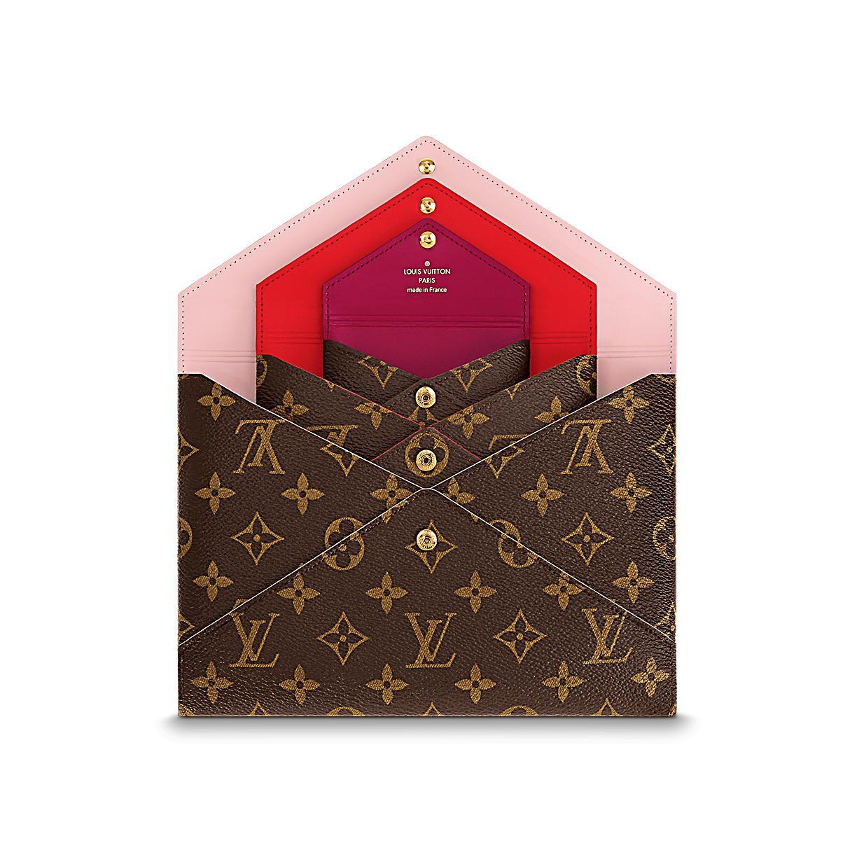 Ein Weihnachtsgeschenk für Damen - Pochette Kirigami Monogram Canvas ...