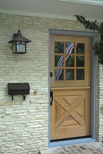 DD202 Glass Panel Dutch Door - YesterYearu0027s Vintage Doors love the blue trim & DD202 Glass Panel Dutch Door - YesterYearu0027s Vintage Doors love the ...