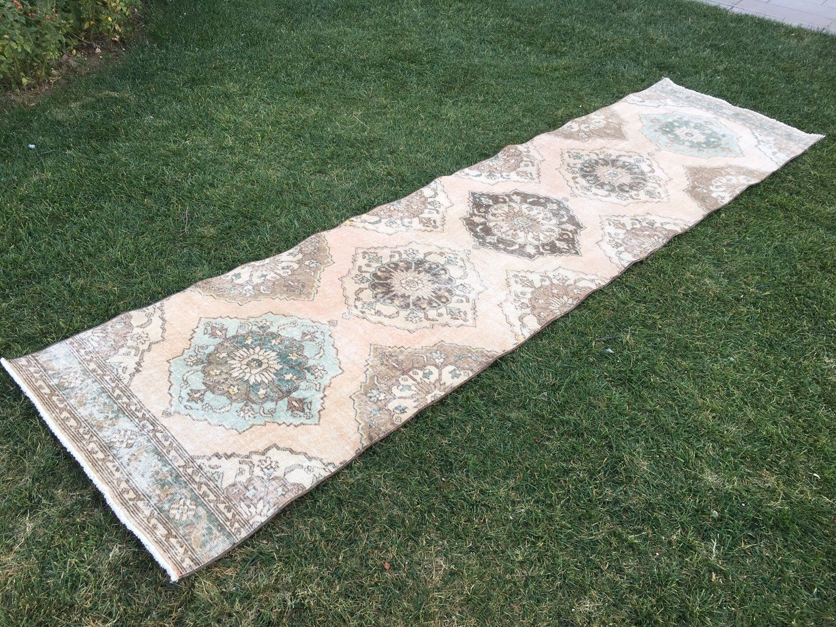 Excited to share this item from my shop Large Runner RugLarge Hallway Runner RugTurkish Large Runner RugVintage Large Runner Rug31x124Large Oushak Runner Ruglow Pile Rug