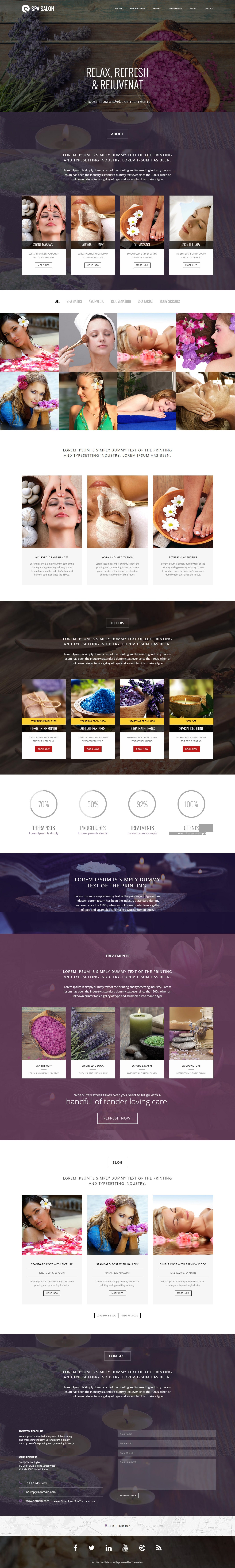 Spa and Salon One Page Bootstrap Template