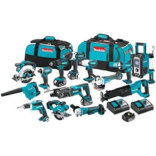 Makita Xt1501 3 0ah 18v Lxt Lithium Ion Cordless Combo Kit 15 Piece Makita Makita Tools Power Tool Set
