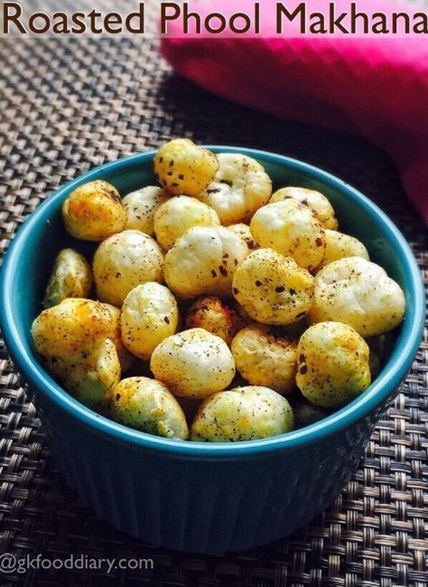 Roasted Phool Makhana   Indian food recipes vegetarian ...