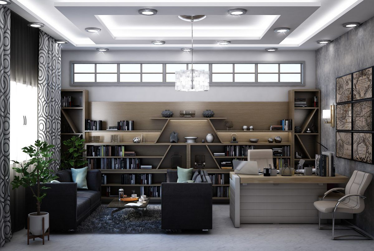 Spacious Home Office Modern Home Office Home Office Design Home