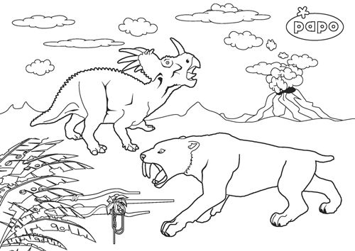 Les Dinosaures Drawing Materials From Papo Dinosaur Drawing