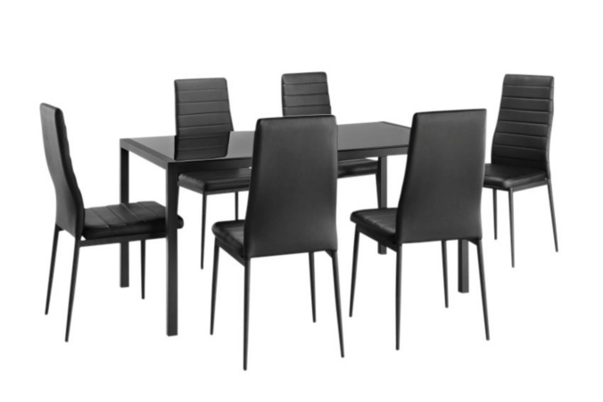 Ensemble Table 6 Chaises Ana 2 Noir Table Et Chaises Ensemble