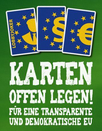 EU-Poker nach dem Brexit: Jetzt Karten offen legen! | LobbyControl