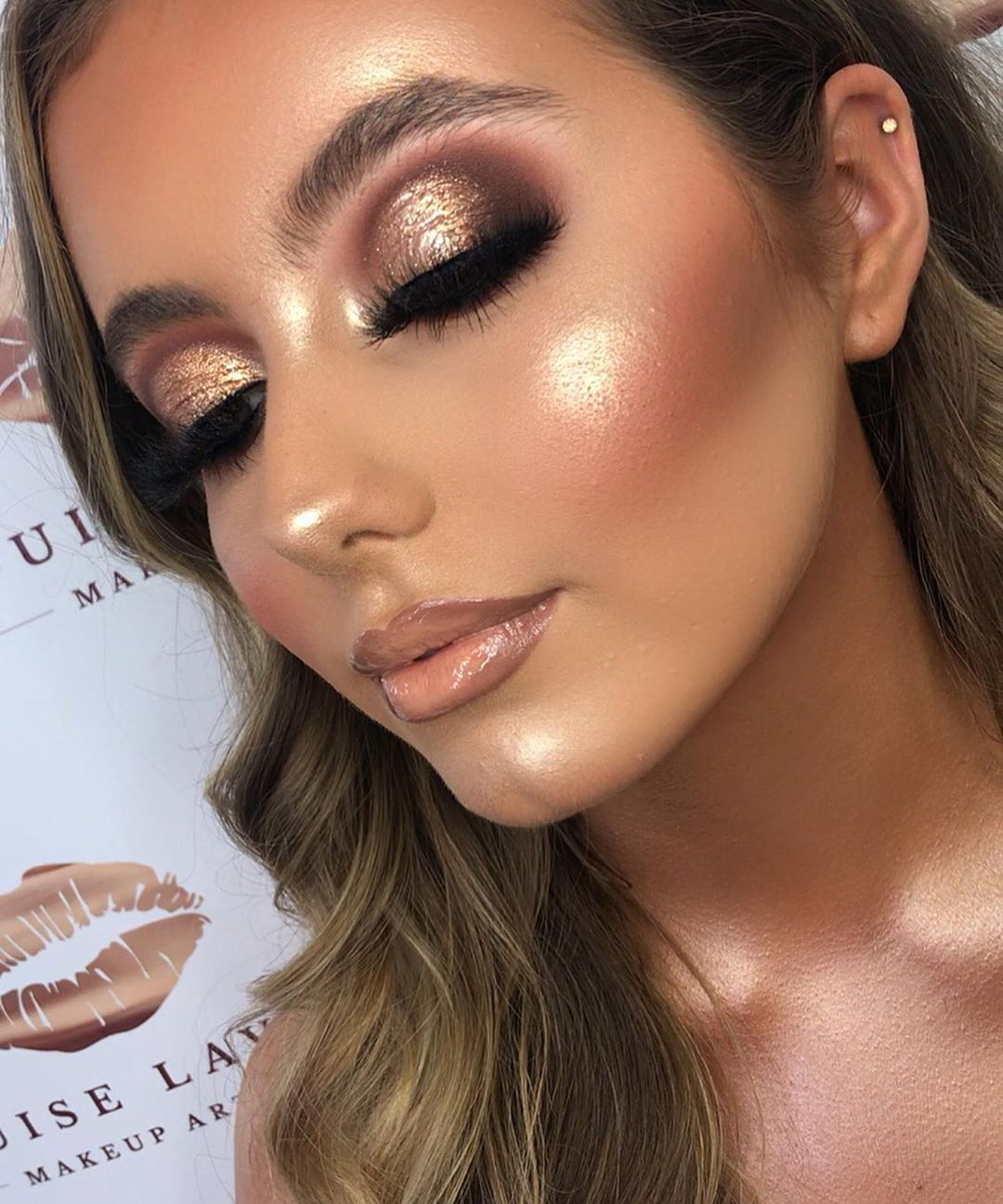 """LOUISE LAVERY on Instagram """"The bronziest glam EYES"""