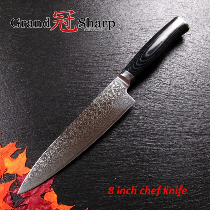 New 8 Inch Chef Knife High Quality 67 Layers Japanese Damascus Steel Vg 10 Core Kitchen Knives Micarta Handle Cooking Tools Chef Knife Kitchen Knives Knife