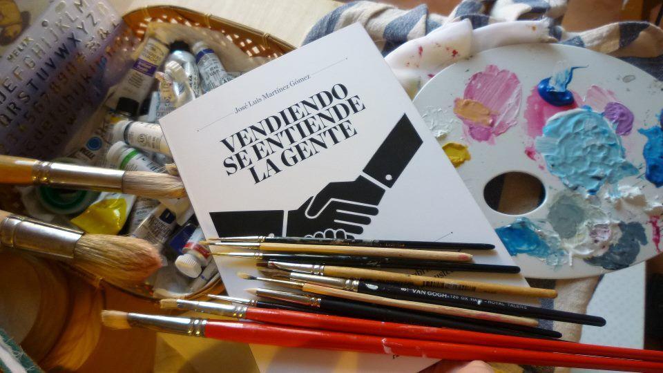 Buenos días! Hoy me he colado en el estudio de una magnífica y reconocida artista, Eva , y me sigo preguntando: La venta ¿una técnica o un arte?