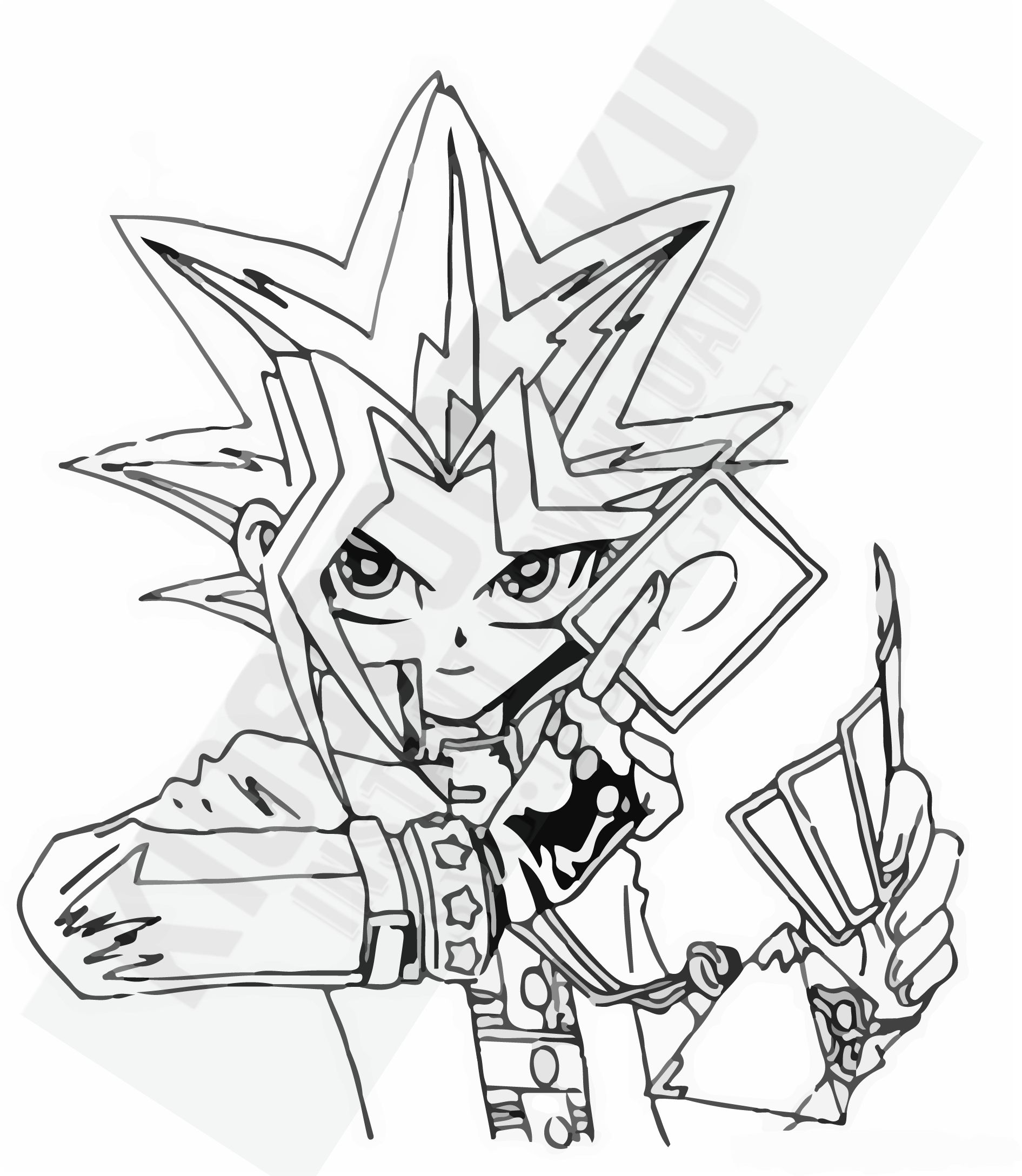 Instant Download Yu Gi Oh Yugi Mutō Special For Tracing Svg Jpg Png Pdf Vectores Cartoon Coloring Pages Cool Coloring Pages Coloring Pages
