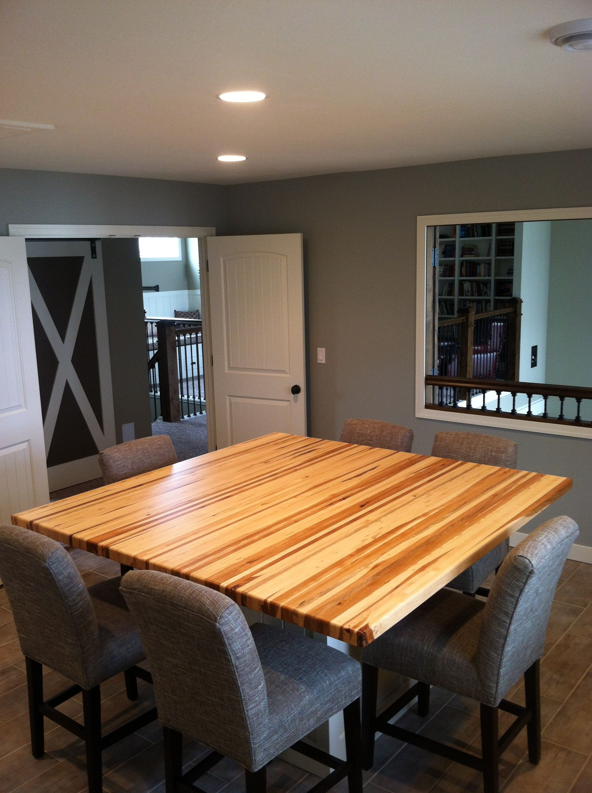 Custom Made 2 5 Edge Grain Hickory Butcher Block Table Top