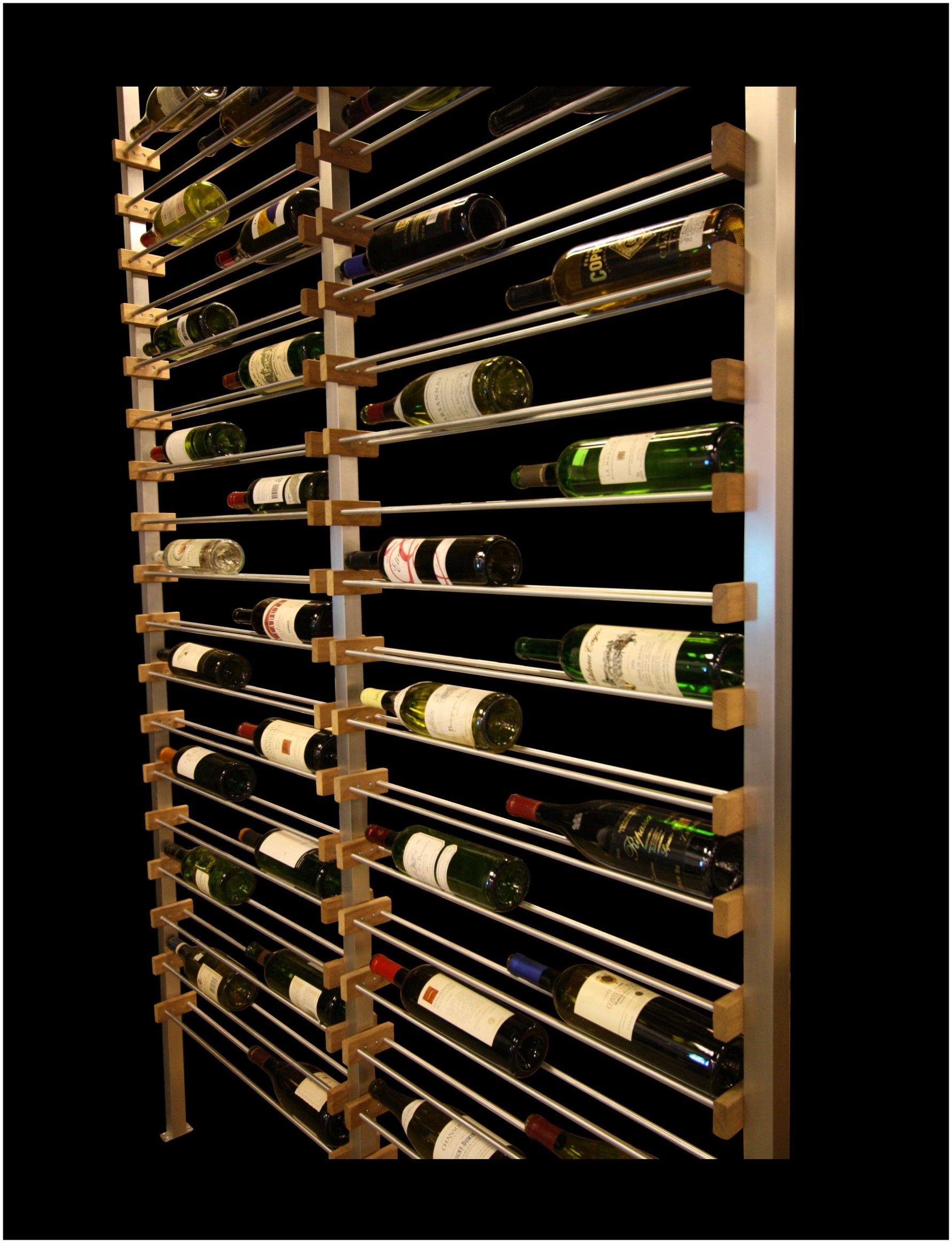 Wine Wall Display Racks 28 3 4 X 96 X 3 1 2 3 6 Wine Rack For Bottles From