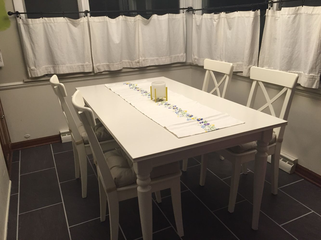 New kitchen table and chairs from IKEA Ingatorp Table Ingolf Chairs ...