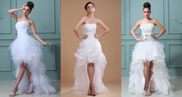 Brautkleid vintage vorne kurz