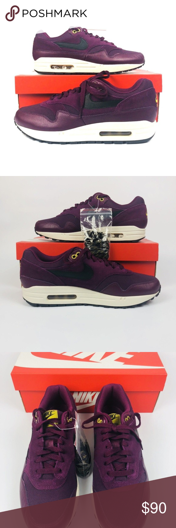 info for 21e28 b7c20 Nike Air Max 1 Premium Nike Air Max 1 Premium Mens Shoe Sizes Bordeaux Black  Desert Moss 875844 601 New With Box Shipped Double Boxed Nike Shoes Sneakers