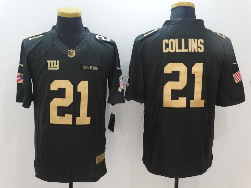Nike Giants 21 Landon Collins Anthracite Gold Limited Jersey  93d6891ba