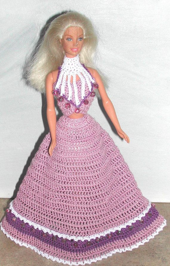 Crochet Fashion Doll Barbie Pattern- #641 Design You Own EVENING ...