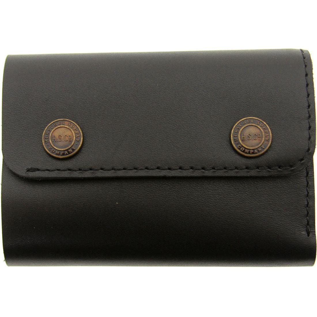 Herschel Supply Co Spencer Premium Leather Wallet (black) | BAIT