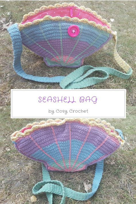 FREE Crochet Seashell Bag Pattern | Crochet | Pinterest | Körbchen ...