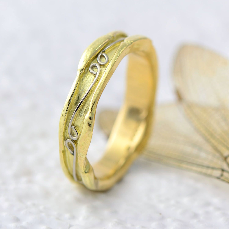 Fairtrade 18ct Gold Wedding Ring Yellow Gold Wedding Band Unisex Ring Handmade Wedding Jewellery Wide Wedding Band Textured Ring Yellow Gold Wedding Ring Yellow Gold Wedding