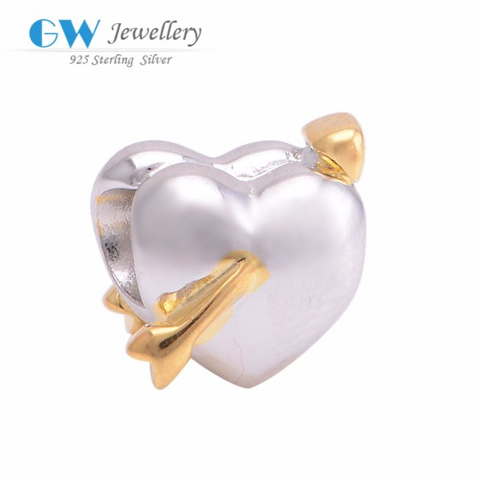 Find More Charms Information about new 2015 sterling silver heart charm genuine 925 sterling silver diy Fits  GW Fine Jewelry E021,High Quality Charms from GW FINE JEWELRY-Factory Store on Aliexpress.com