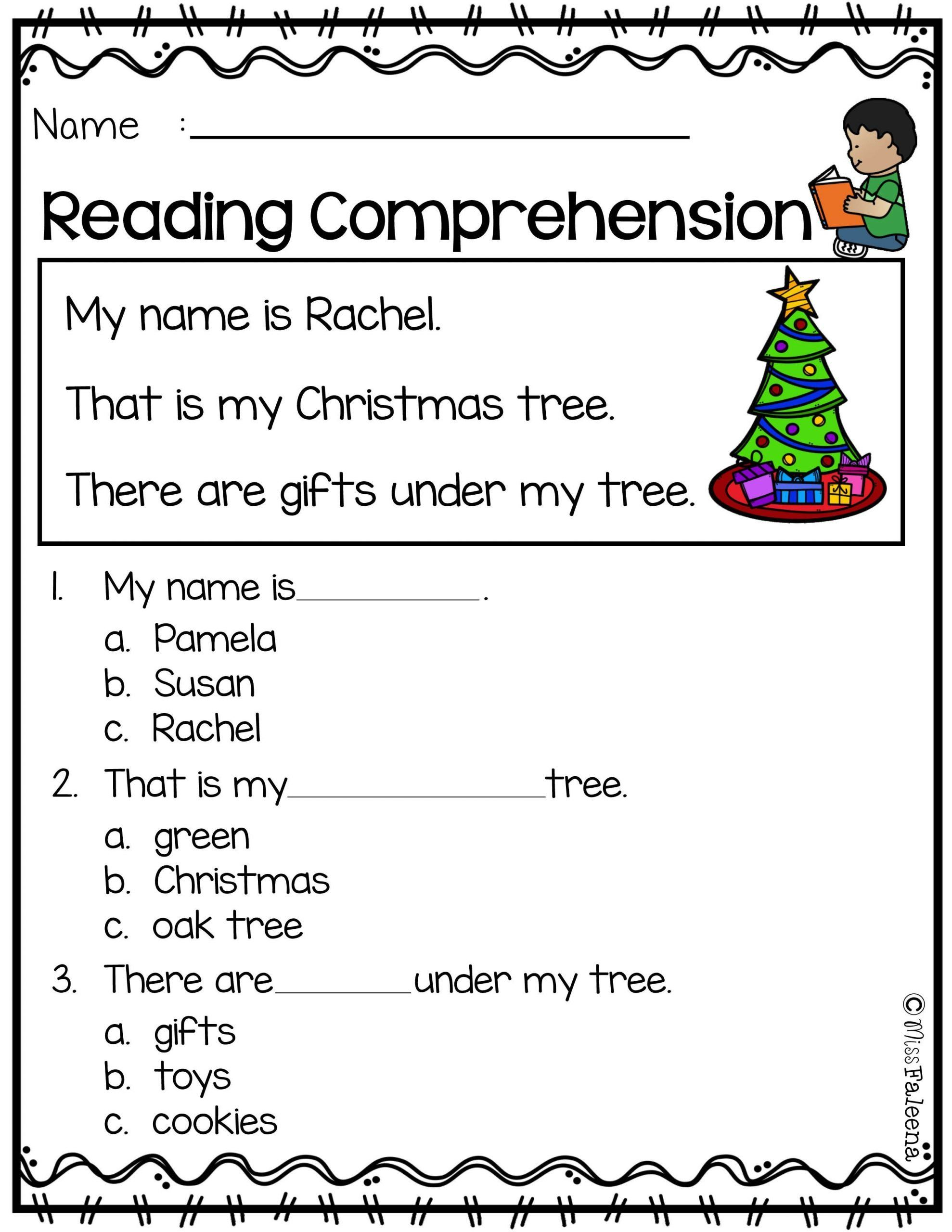 3rd Grade Christmas Worksheets Math Prehension Worksheets