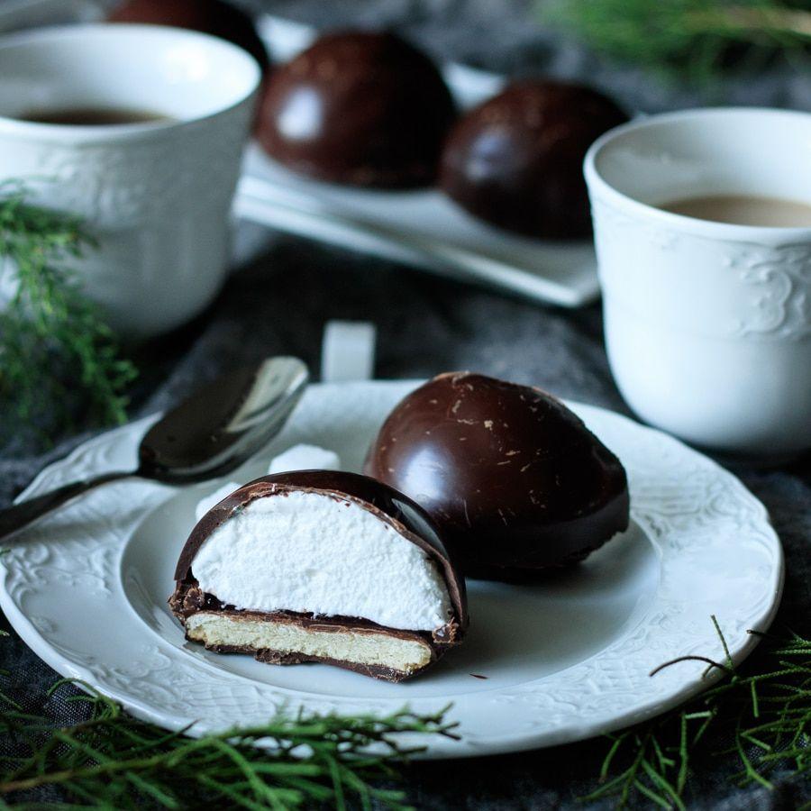 Chocolate teacakes with raspberry jam recipe in 2020