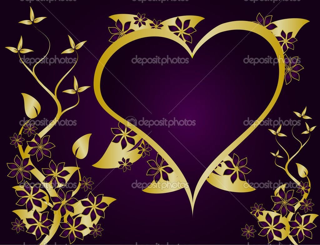Elegant royal frame with crown vector colourbox - Purple And Gold Purple And Gold Valentines Vector Background Stock Illustration