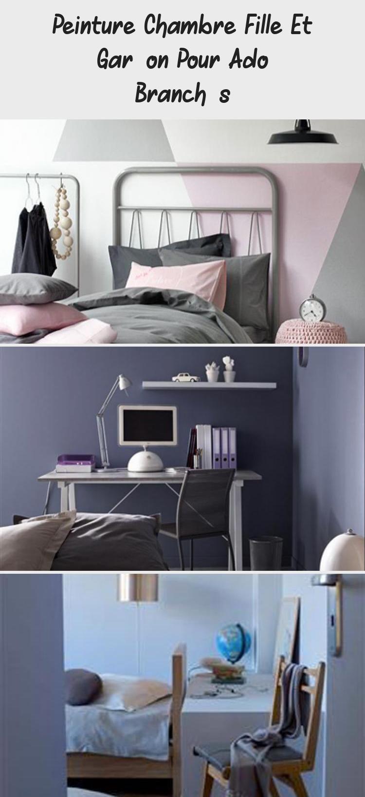 Peinture Chambre Fille Et Garcon Pour Ado Branches Decoration Home Decor Pouf Furniture