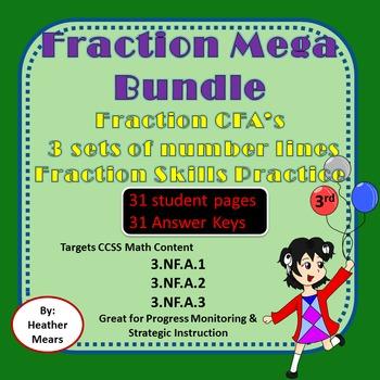 Fraction Bundle Number Lines CFA's Fraction Skills ...