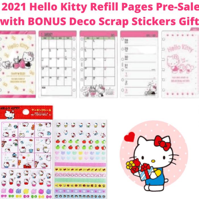 2021 Hello Kitty Agenda Refills For Ff Pocket Organiser Pink Sanrio Japan Planner Setup Planner Setup Filofax Planner