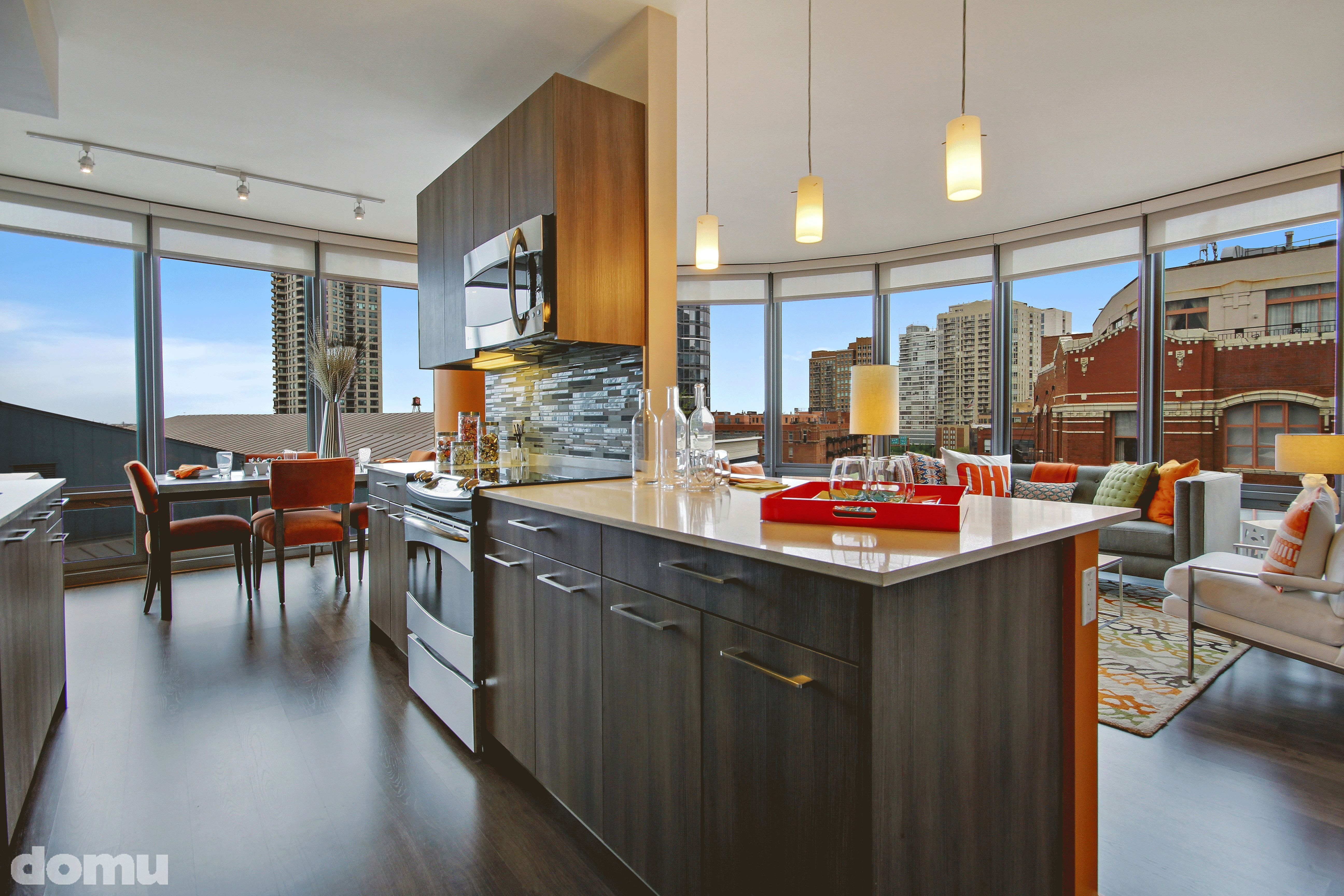 Hubbard Place Apartments For Rent Chicago Open Concept Kitchen Open Concept Kitchen Living Room Kitchen Concepts