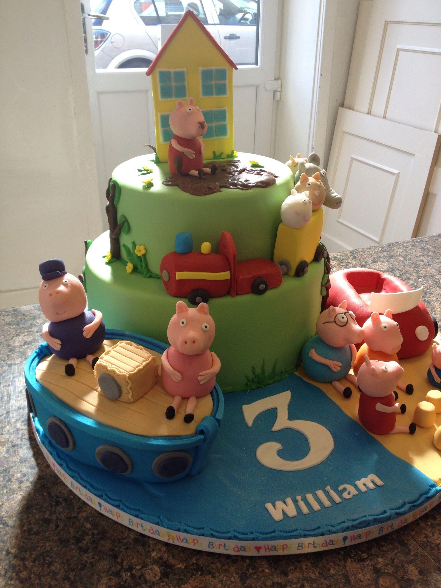 Peppa Pig Boat Train Ignatius 2nd Birthday Pinterest Cake