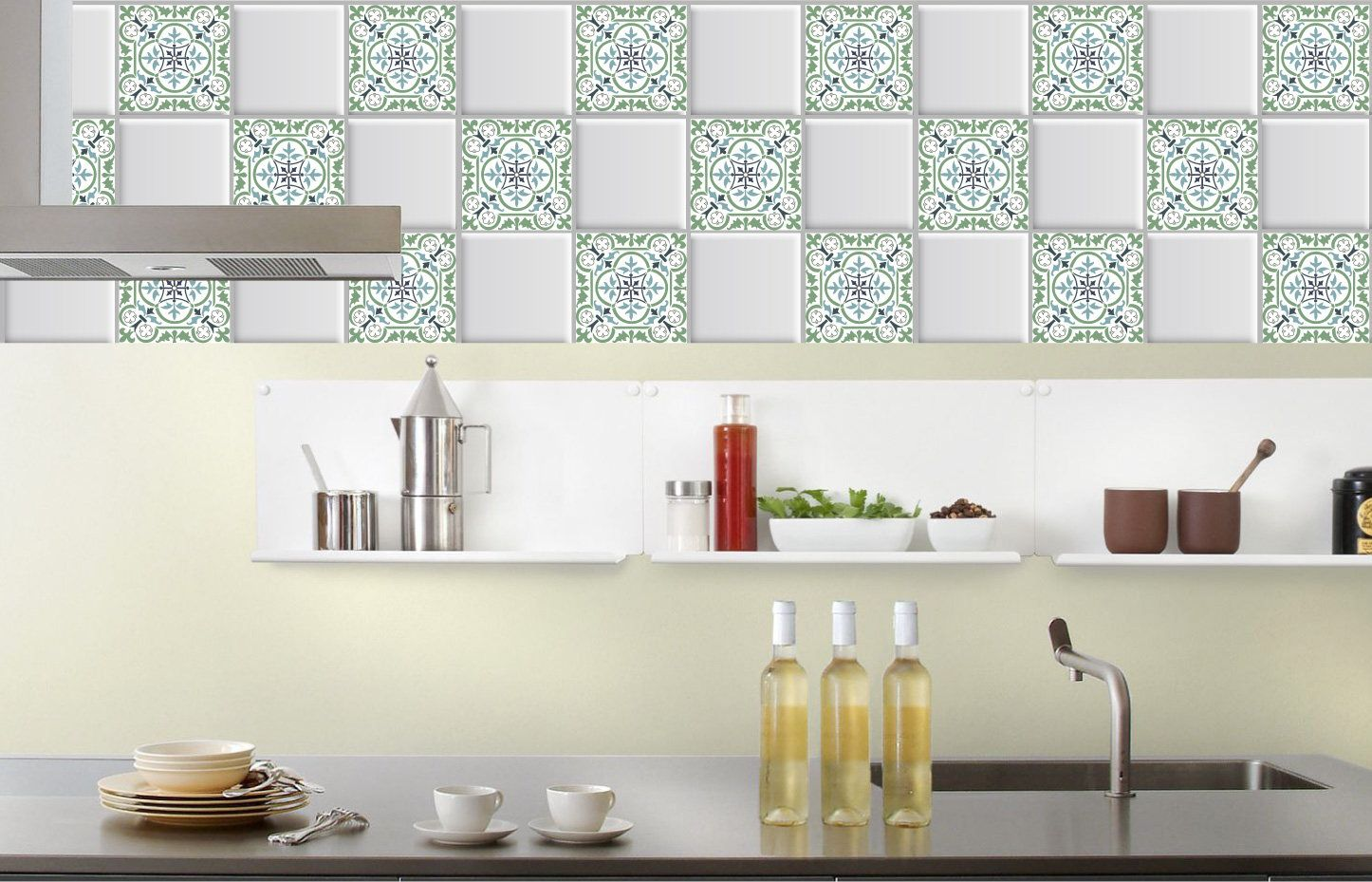 Tile stickers for Kitchen, Backsplash, Bathroom, Stair Riser, Floor ...