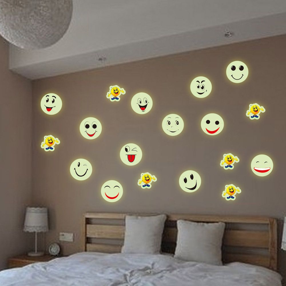21 30cm Free Shipping Wholesale Vinyl Pvc Stencils Wall Stickers Emoji Stickers For Home Decoration Removable I Emoji Room Baby Room Wall Kids Bedroom Decor
