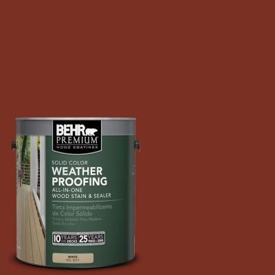 BEHR Premium 1 gal  #SC-330 Redwood Solid Color