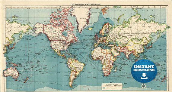 Large Map Of Australia Printable.Digital Old World Map Printable Download Vintage World Map