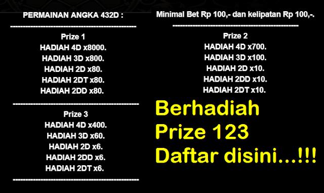 Ada Dua Bandar Berhadiah Prize  Daftar Disini Gabung Grup