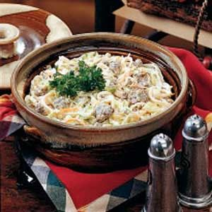 Sausage 'n' Noodle Dinner #sausagedinner