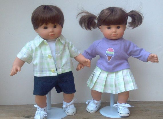 American Girl 15 Bitty Twins Doll Clothes Boy And Girl Bitty Baby Clothes Bitty Twins Twin Dolls