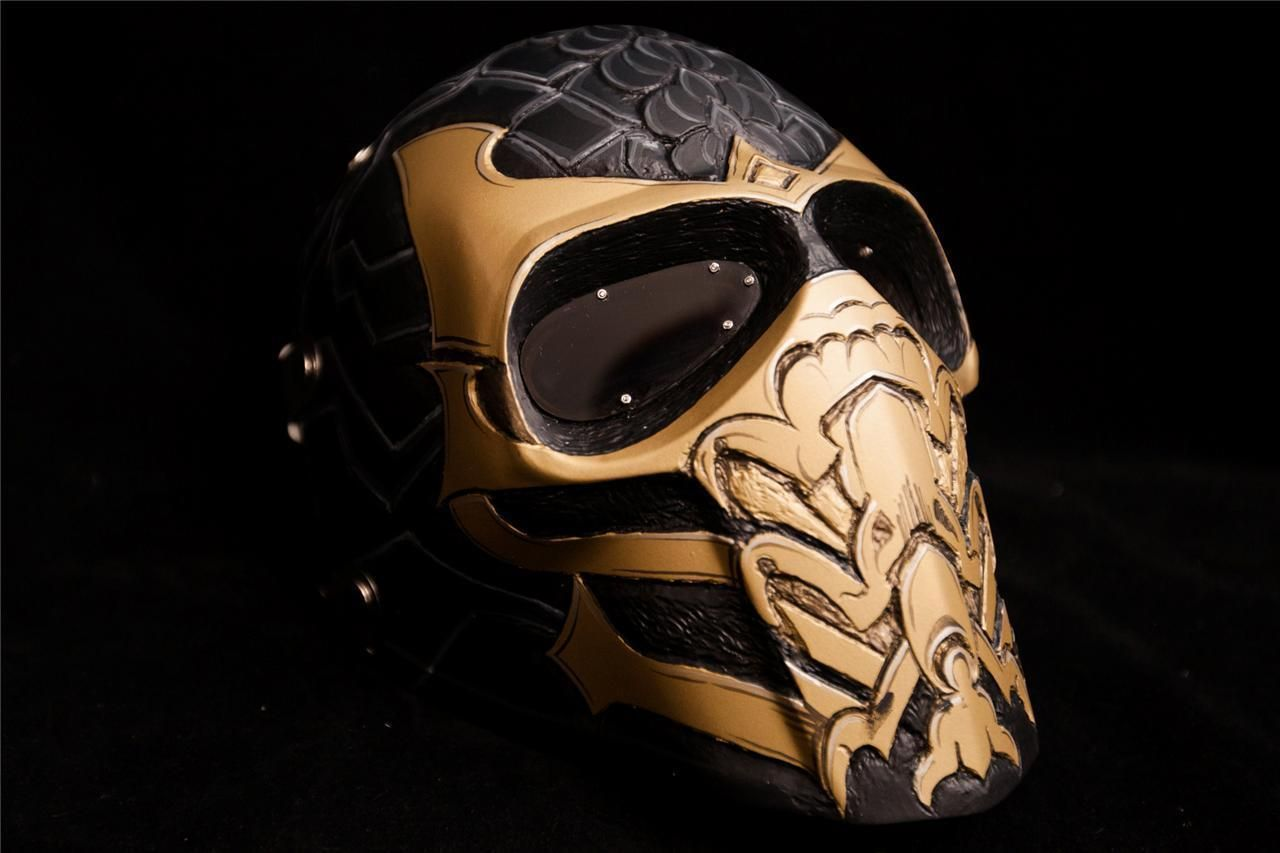 Army Of Two Mask Airsoft Paintball Helmet Halloween Mortal Kombat Scorpion Ebay With Images