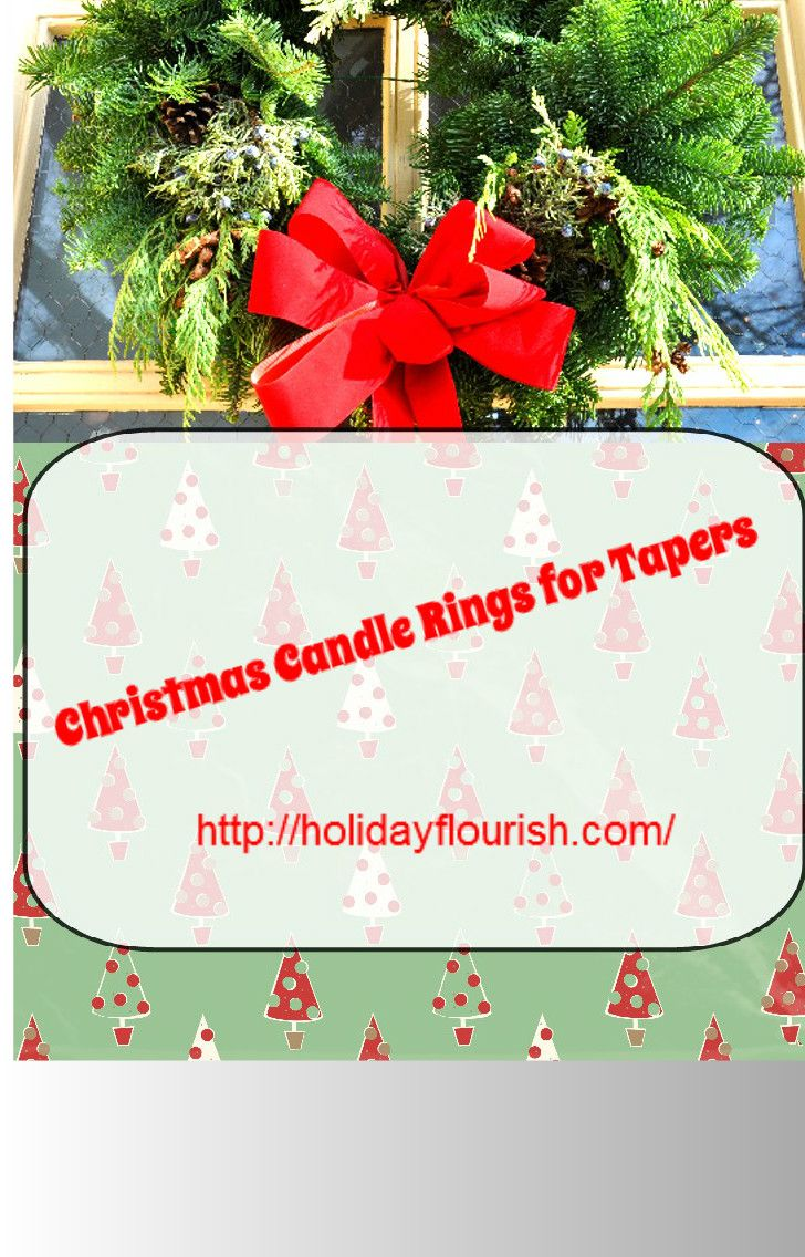 Christmas candle rings for tapers outdoor christmas decorations