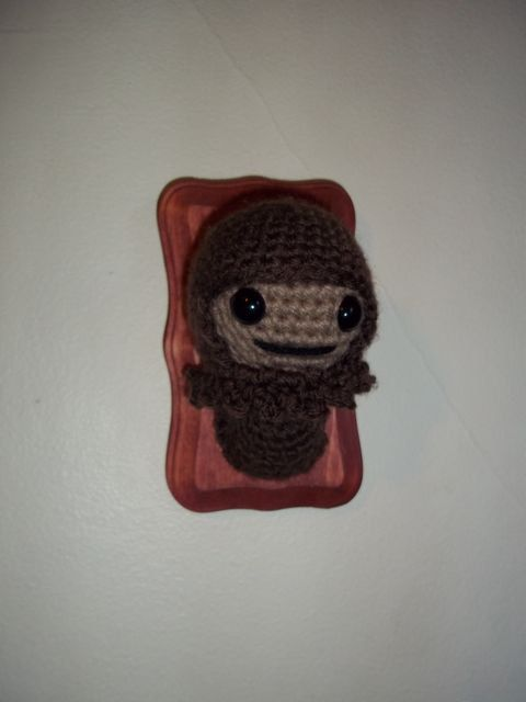 Mounted Bigfoot on rectangle plaque by AmyLDice on Etsy, $15.00