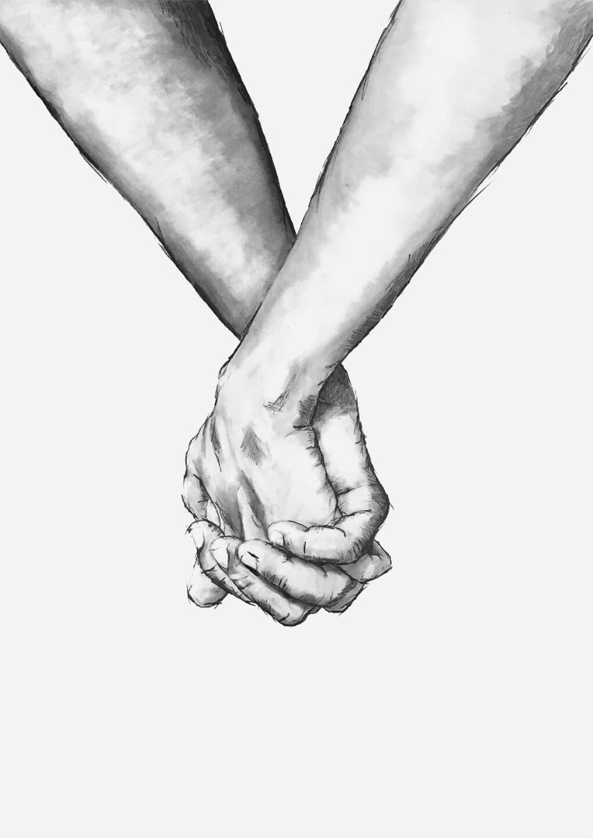 Holding Hands Poster How To Draw Hands Holding Hands Drawing Black And White Painting Get inspired for two hands holding each