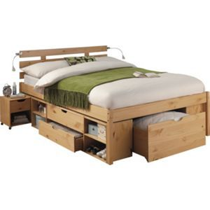 Ultimate Storage Double Bed Frame Pine Effect Double