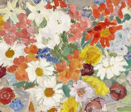 Penelope Beaton Mixed Bunch of Flowers, detail